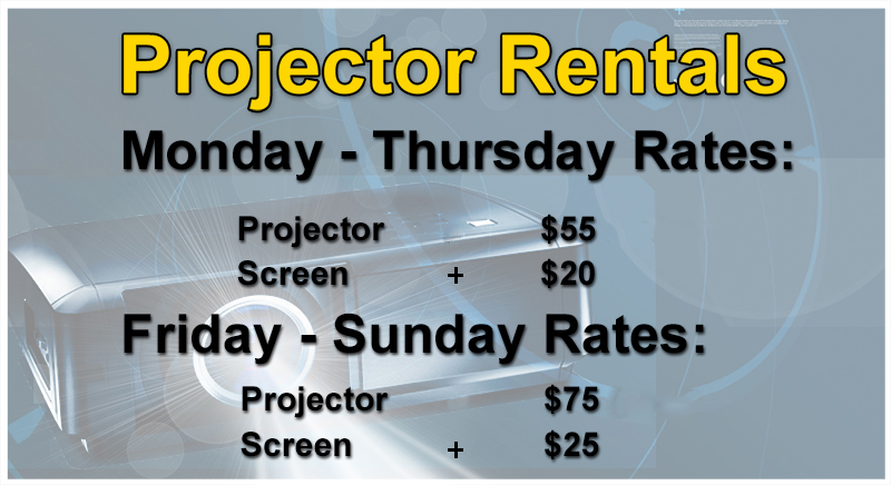 affordable projector and screen rental for events greensburg pa